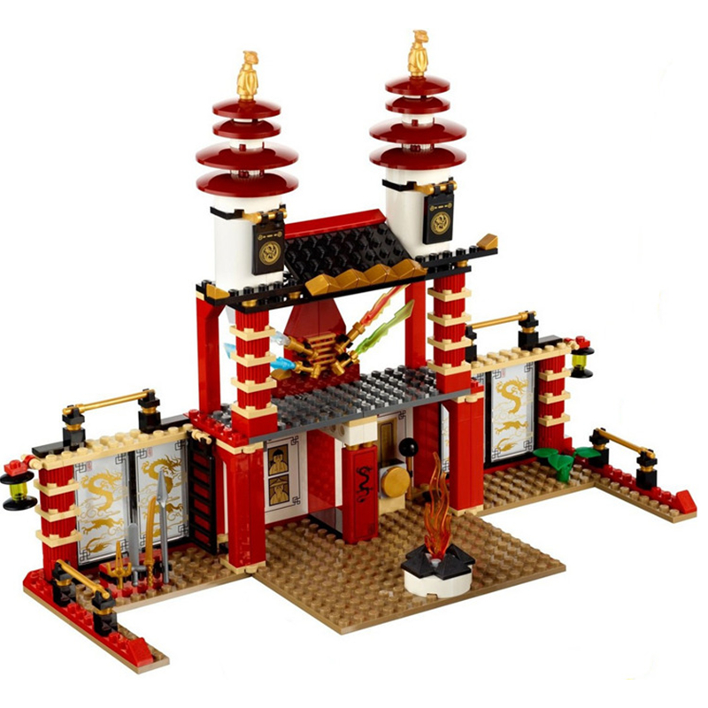 9795 Ninja Temple of Light Building Blocks Toys For Children 577Pcs Compatible with Lepin lepin 02012 city deepwater exploration vessel 60095 building blocks policeman toys children compatible with lego gift kid sets