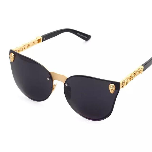 Sin Montura de la moda Del Ojo de Gato gafas de Sol de Los Hombres ...