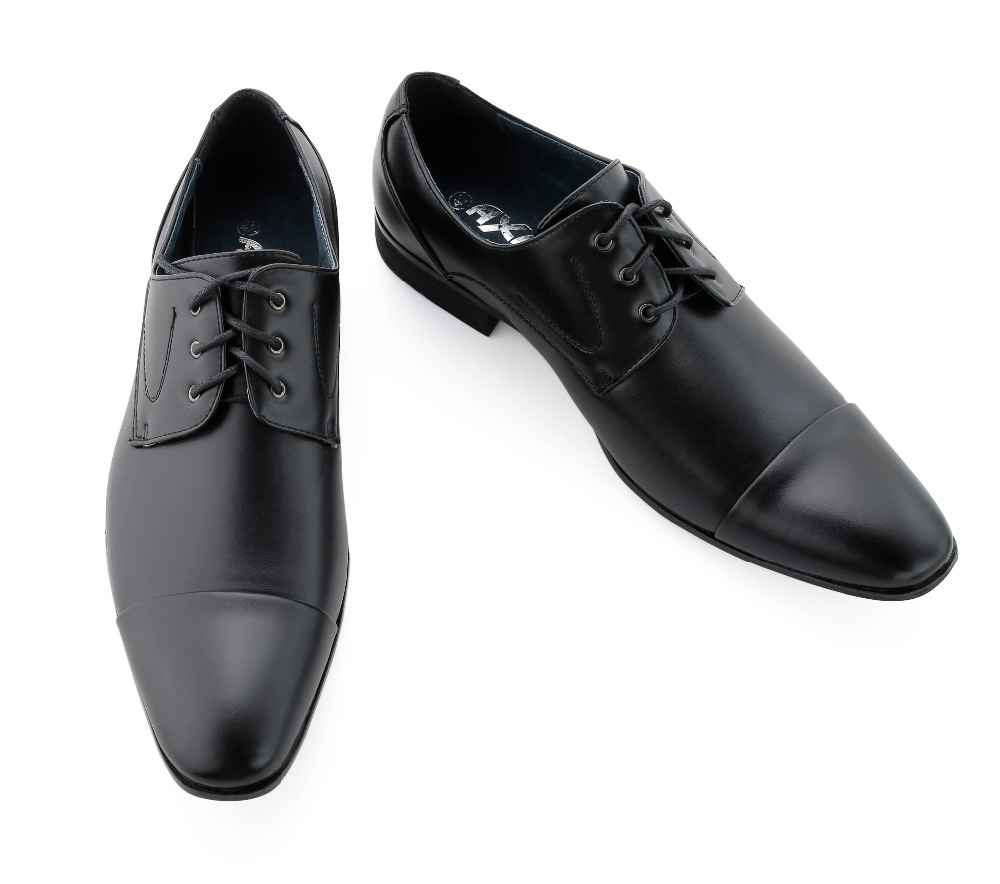 Men Genuine Leather Dress Shoes Oxfords Derby New Men S Black Blazer