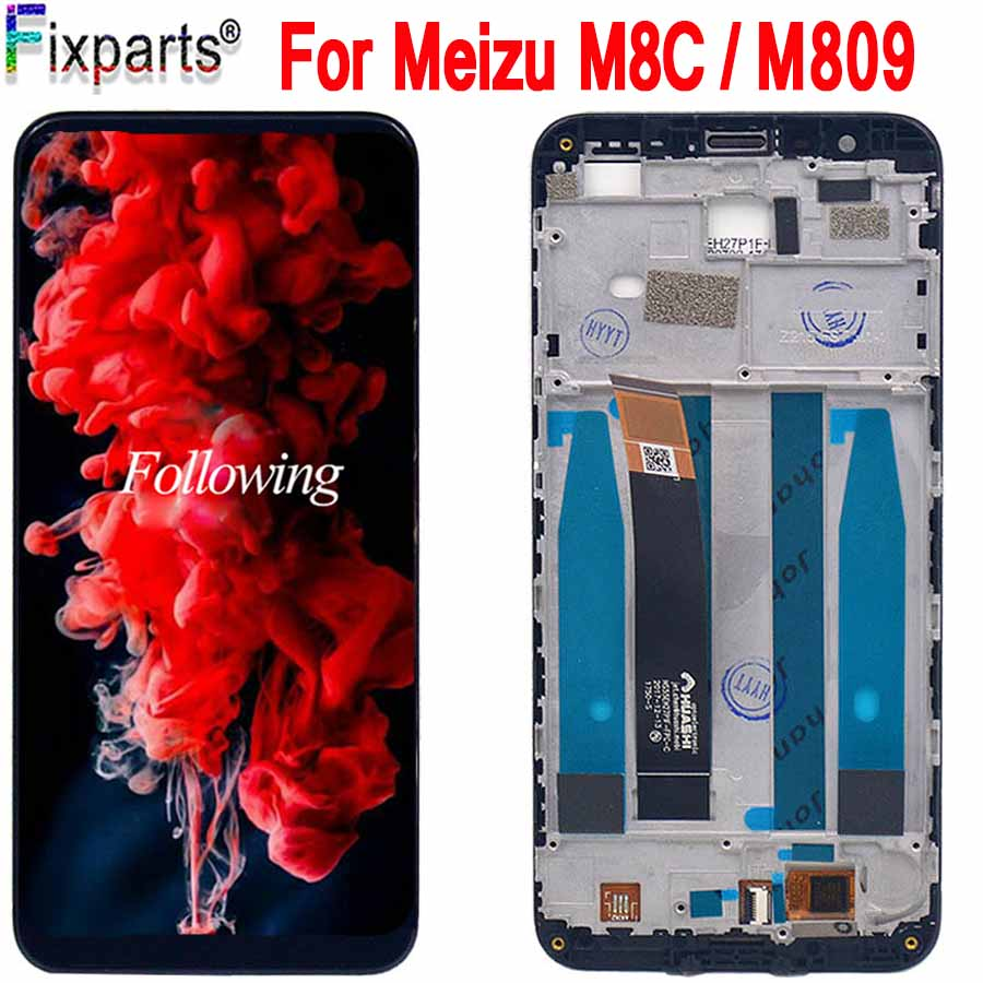 2018 NEW For Meizu M8C LCD Display With Touch Screen With Frame Digitizer Assembly For Meizu M8 C M809L M810H LCD