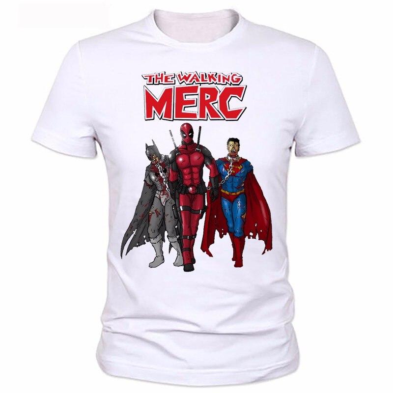 Super hero Tees Men Women Cartoon Characters t shirt 2016 Badass Deadpool T-Shirt Funny Casual tee shirts tops