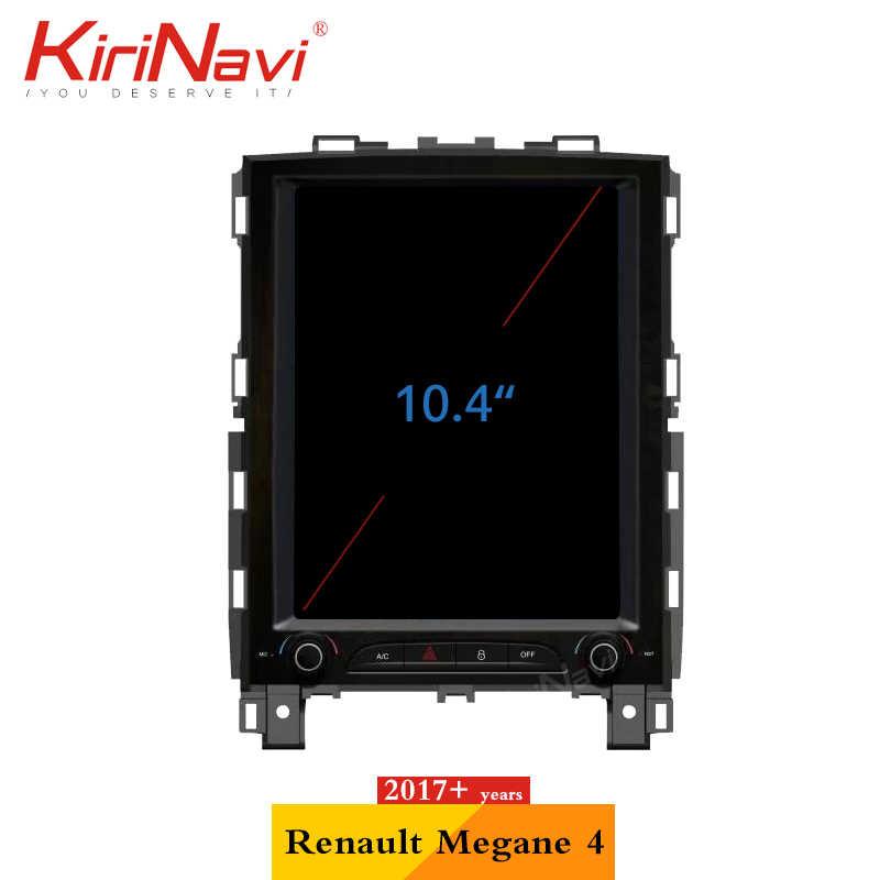 KiriNavi Telsa סגנון אנכי מסך 10.4 ''2 דין אנדרואיד 7.1 automotivo ראש יחידה לrenaul KOLEOS/מגאן 4 2016 + רכב רדיו