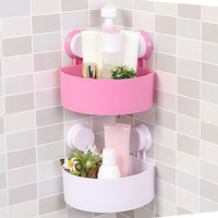 Plastic Bathroom Storage Shelf Kitchen Storage Holder Kitchenware Toiletry Bathroom Organizer With Sucker