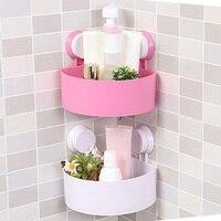 Plastic Bathroom Storage Shelf Kitchen Storage Holder Kitchenware Toiletry Bathroom Organizer With Sucker