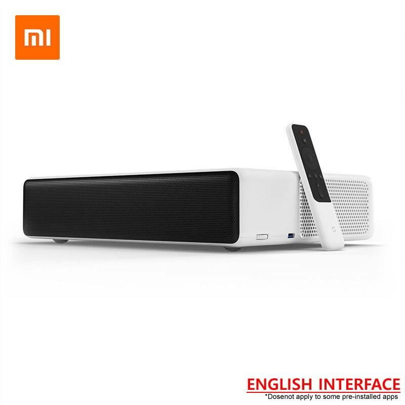 Original NOVO Xiaomi Mijia Laser Projetor TV 150 Polegada Inglês Interface 4 k Relógio Full HD do Futebol do Futebol Com DOLBY DTS 3D HDR