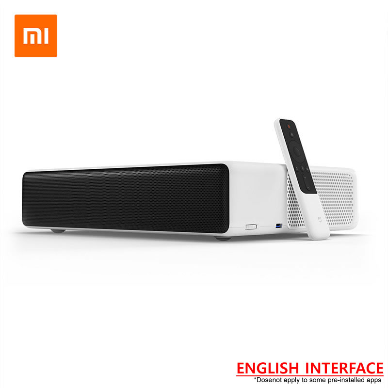 Nuevo Original Xiaomi Mijia láser proyector TV 150 pulgadas inglés interfaz 4 K reloj Full HD fútbol con DOLBY DTS 3D HDR