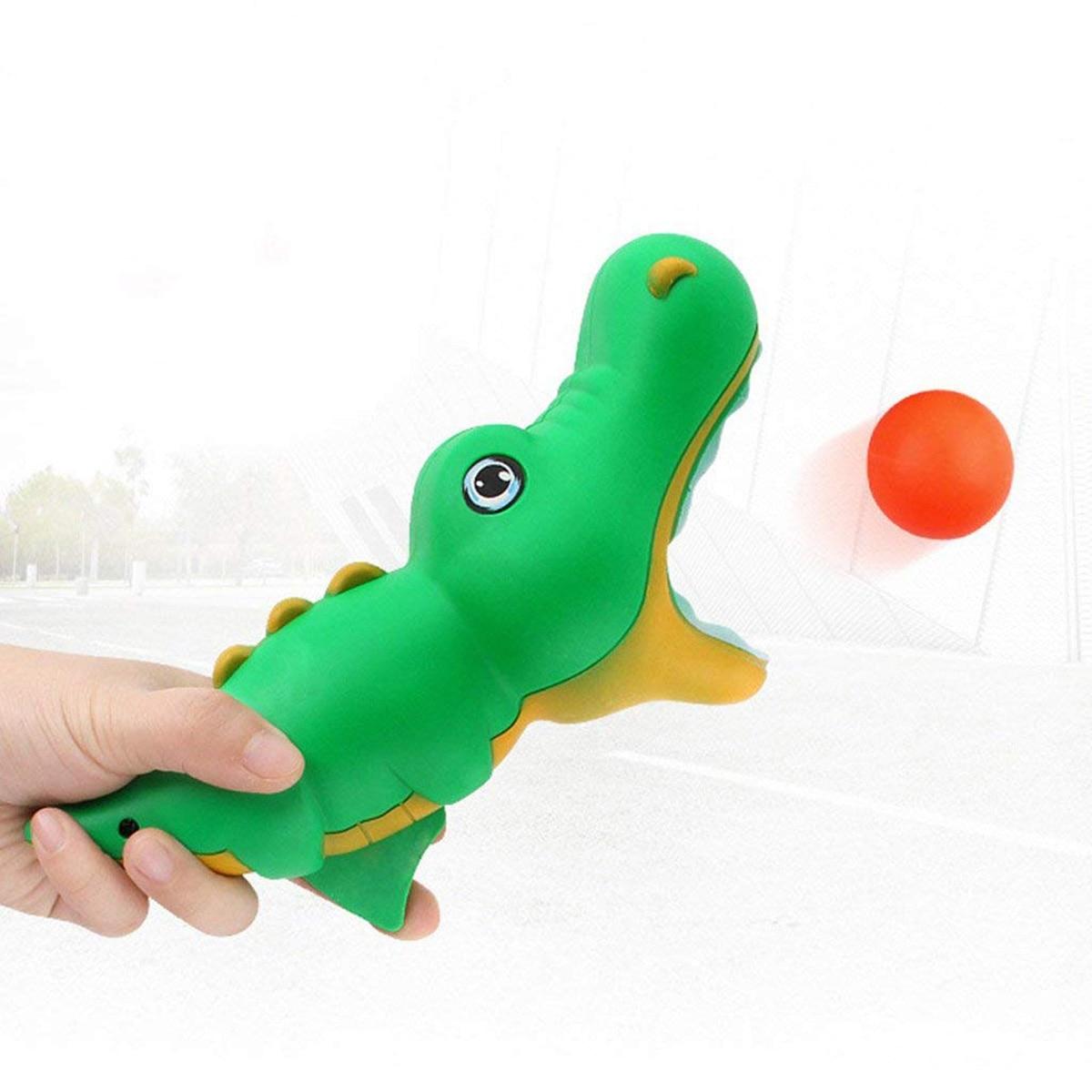 100% QualitäT 1 Set Krokodil Modellierung Katapult Starten Butt Springenden Ball Spielzeug Für Kinder Starten Und Fangen Ball Spielzeug