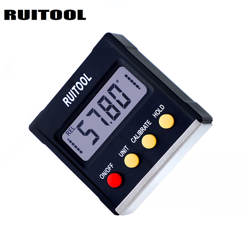 цена на Digital Protractor 4x90 Degree Gauge Level Meter Inclinometer Angle Ruler Magnetic Base Level Measuring Instruments