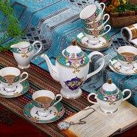 Цзиндэчжэнь Кофейные Наборы Европейский стиль костяного фарфора кофейные чашки и блюдца английский послеобеденный чай высококачественны