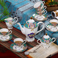 Jingdezhen Coffee sets European style Bone China Coffee Cups and Saucers English afternoon tea High grade Gift