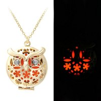 Owl Necklace Glowing Fairy Necklace Magic Round Glow In The Dark Charm Pendant Necklace