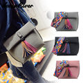 Famous Designer Women Leather Tassel Handbags Purses Colorful Shoulder Strap Clutch Purse Bag Casual Tote Bag Bolsos Mujer