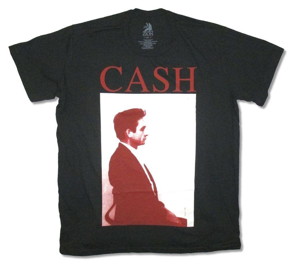 Джонни кэш профиль черная футболка новый официальный для взрослых
