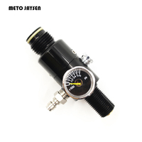 PCP Paintball Airsoft HPA Tank M18 1 5 Thread Regulator Valve Black 4500psi Inlet 1500psi 1800psi