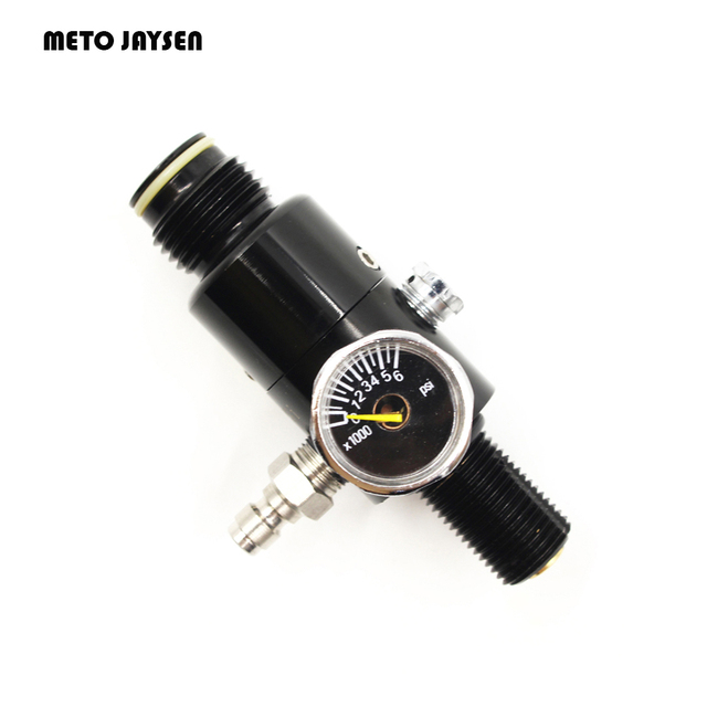 PCP Пейнтбол акваланг бак заполнения Vavle M18x1.5 регулятор клапан черный 4500psi на входе 2200psi выход давление 6000psi датчик