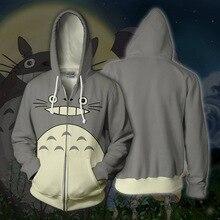 Tonari no Totoro Anime Sweatshirts Hoodie Cosplay Costume Spiderman Jackets Men Top Coat Zipper Hoded