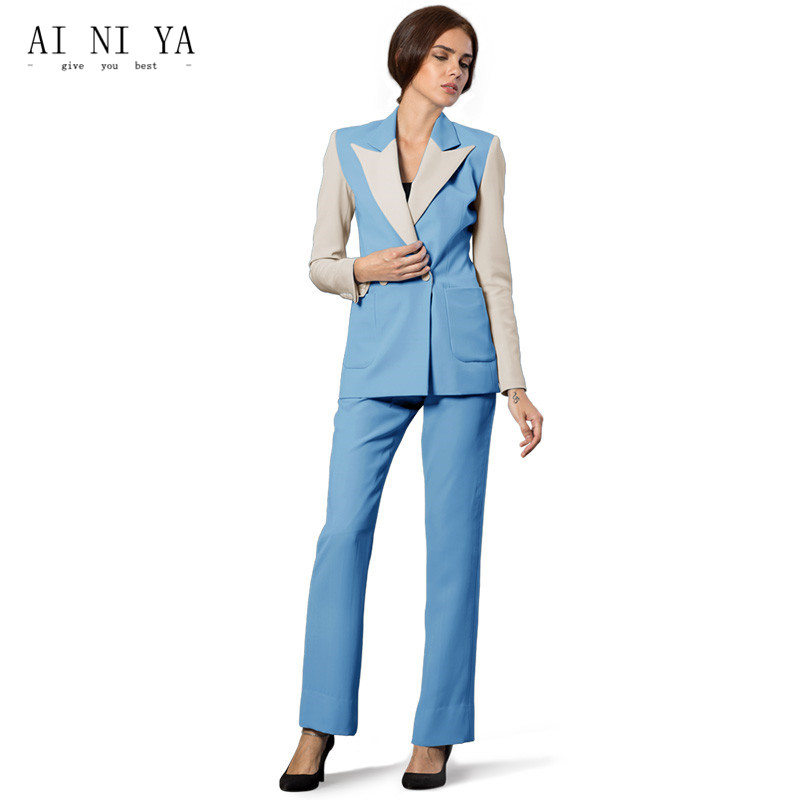 Custom Made Womens Business Suits Female Office Uniform Slim Ladies Trouser Suits Formal Elegant Ladies 2 Piece Jacket+Pants New