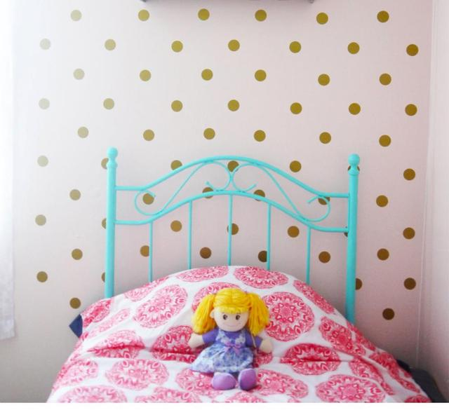 Online Shop GOLD set DIYPolka Dot Wall Decal Sticker , Peel and ...