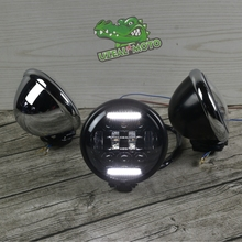Harley Retro Motorcycle Modified LED Highlights 5.75 inch Headlights double line type Driving light