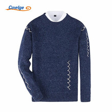 Covrlge 2017 Men's Sweaters O-Neck Pullover Male Solid Color Fashion Christmas Sweater Free Shipping Brand-Clothing M-2XL MZM013