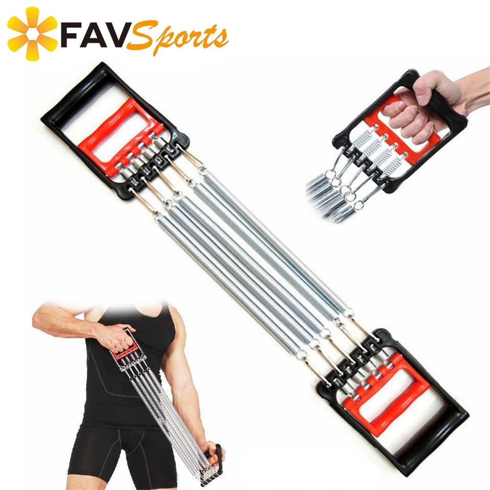 FAVSPORTS forte force entraînement bande résistante poignée réglable ressorts élastiques poitrine extenseur exercices poignet avant-bras