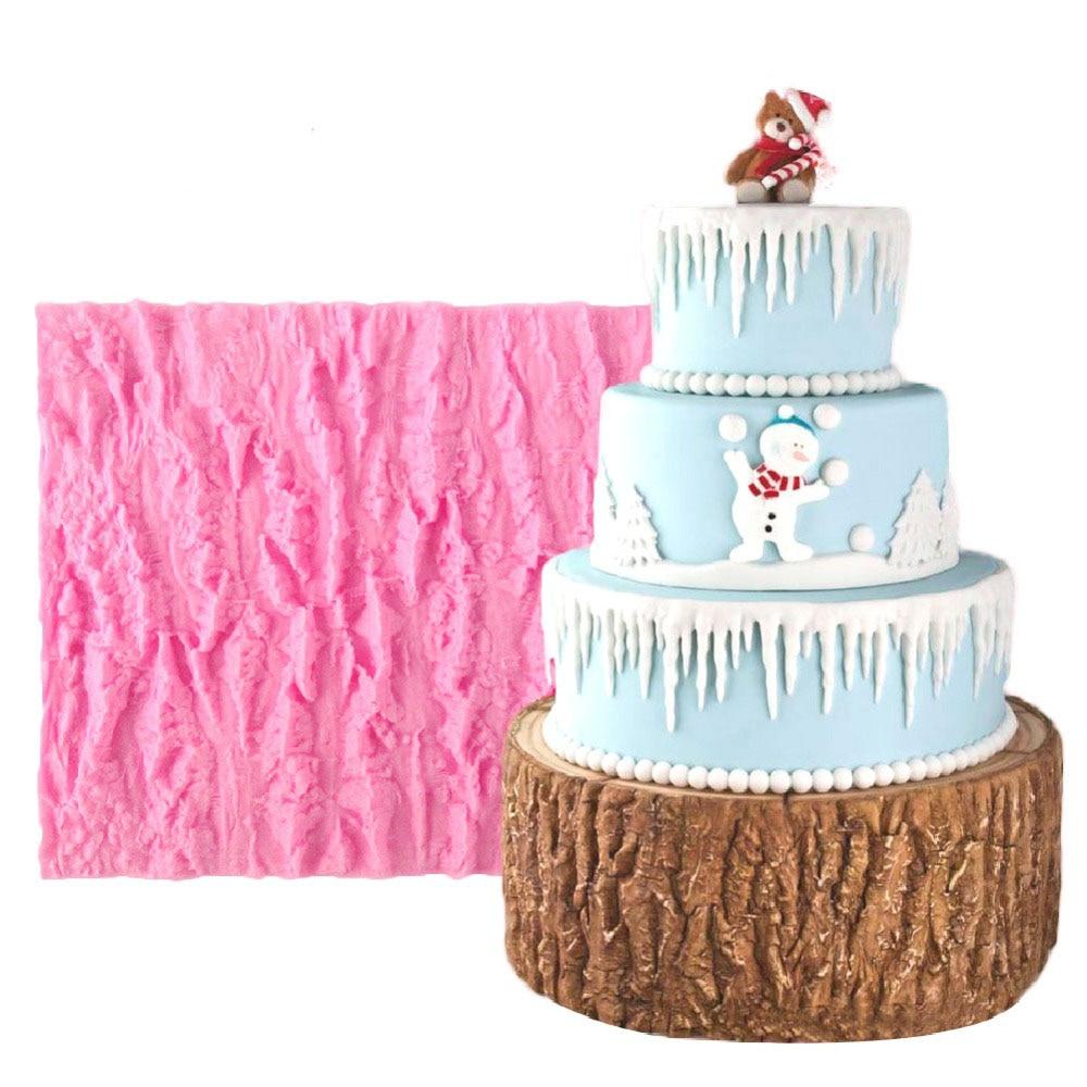 Line Texture Cake : M tree bark line texture fondant cake mold food grade