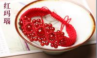 High Quality String knitted red jewelry Red Womens Bracelet Knitted Red String Bracelets Female Accessories