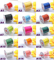 5 Rolls/50Meter 0.8mm Crystal Stretchy Elastic Craft Bracelet Beads Thread Cords Wire 15 Colors In Total for Jewelry Making