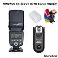 Беспроводная вспышка YONGNUO YN560 IV 560IV 2 4G с триггером RF603C II для Canon 6D 7D 60D 70D 5D2 5D3 700D 650D 750D 5D IV