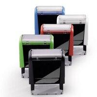 BBloop Customizable Self Inking Stamp Rectangular Laser Engraved RED Black Blue