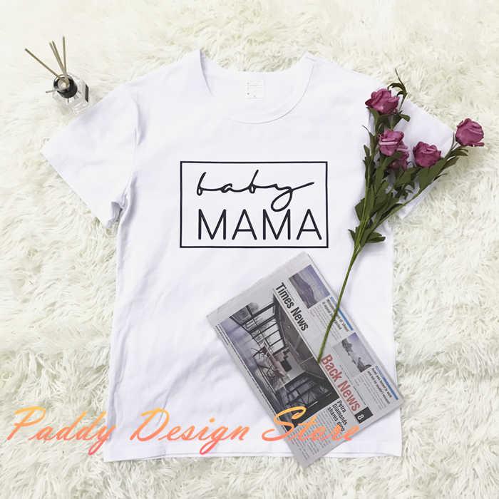 77d4407e00fe1 ... OKOUFEN Baby Mama Pregnancy tShirt Announcement women mom gift shirt  tumblr fashion short sleeve tee O ...