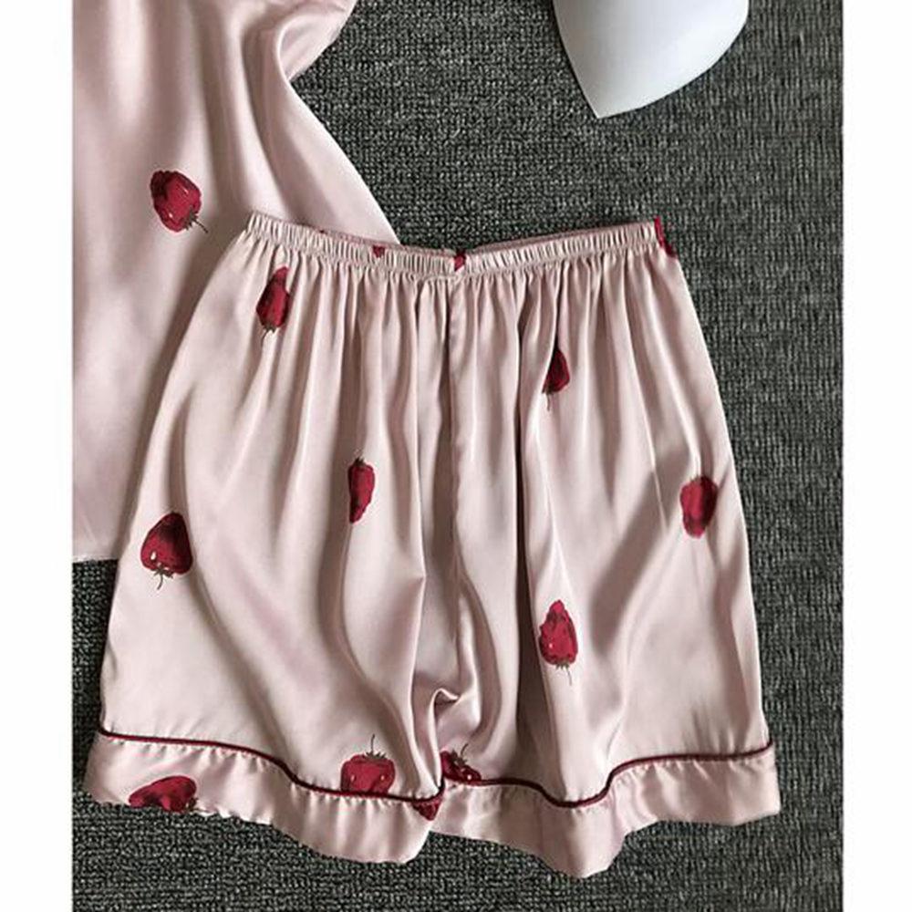 Women pajamas set polka dots silk satin sleepwear women lingerie dots pyjama woman chemise plus size nightwear pink
