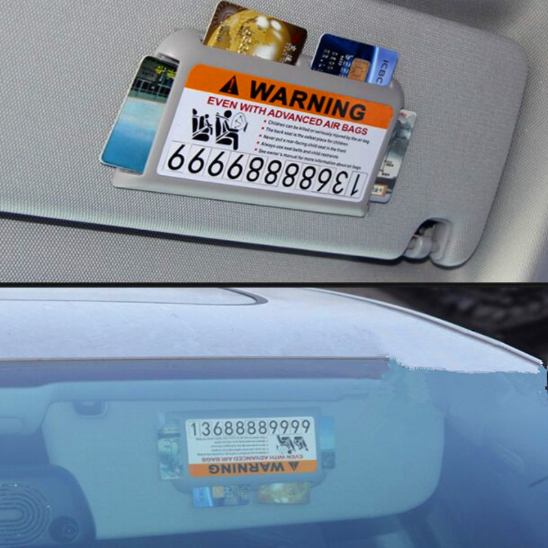Car Stickes Visor Temporary Parking Phone Number For  Mitsubishi Asx Lancer 10 9 Outlander 2013 Pajero Sport L200 Expo Eclipse yuzhe leather car seat cover for mitsubishi lancer outlander pajero eclipse zinger verada asx i200 car accessories styling