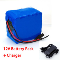 LiitoKala 12V 30Ah 3S12P 11.1V 12.6V High power Lithium Battery Pack for Inverter Xenon Lamp Solar Street +12.6V 3A Charger