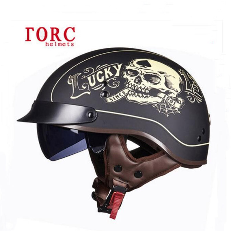 DOT safety certification TORC retro locomotive helmets Man half-face motorcycle prince helmet ABS Electric Bicycle Half Helmets torc t55 vintage half face motorcycle