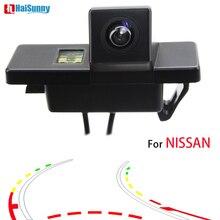 HaiSunny для NISSAN JUke QASHQAI Geniss Pathfinder заднего вида камера с умный динамический траектории треков