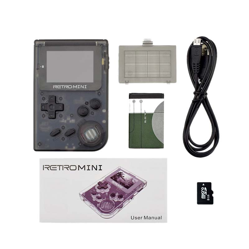 New Data Frog Retro Game Console 32 Bit Portable Mini Handheld Game Players Built-In 940 Classic Games For Gba