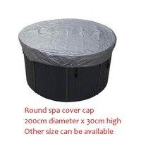 Forma rotonda vasca idromassaggio calotta di copertura Diametro 2000mm x 300mm (H), può personalizzare spa, swim spa sacchetto della copertura