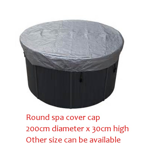 Round shape hot tub cover cap Diameter 2000mm x300 mm(H) ,can customize spa, swim spa cover bag 2200mmx1900mm hot tub spa cover leather skin can do any other size