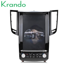 "Krando Android 6.0 12.1"" Tesla Vertical car audio radio player GPS for Infiniti QX70 FX25 FX35 FX37 navigation multimedia system(China)"