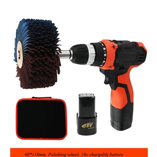 Grinding Electromechanical 18V Charging Shaped Sand Cloth Wheel Woodworking Brush Groove Line Polishing Wheel BL18