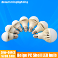 E27 LED Lamp 220v Cool/Warm White Beige PC Shell Bulbs Interior Lighting Light Bedroom Living Office 3w 5w 7w 9w 12w 15w 20w
