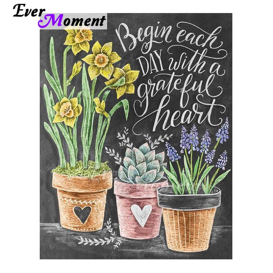 Ever Moment Diamond Painting Blackboard Letters Flower Full Square Drill 5D DIY Diamond Embroidery Cross Stitch Mosaic S2F1625Ever Moment Diamond Painting Blackboard Letters Flower Full Square Drill 5D DIY Diamond Embroidery Cross Stitch Mosaic S2F1625