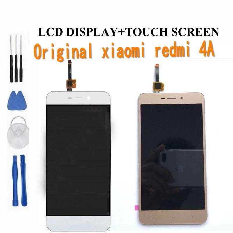 imágenes para 100% probado pantalla táctil de cristal y lcd display asamblea del digitizador para xiaomi redmi 4a teléfono inteligente negro blanco envío gratis