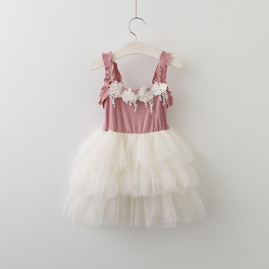Обувь для девочек Кружево пачка Платья для вечеринок для маленьких девочек принцессы с цветочным рисунком платье с жемчужинами для малышей...