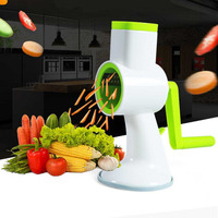 Multifunction vegetable slicer Stainless Vegetable Shredder Hand Rotary Grater Pineapple Garlic Press Lemon Squeezer