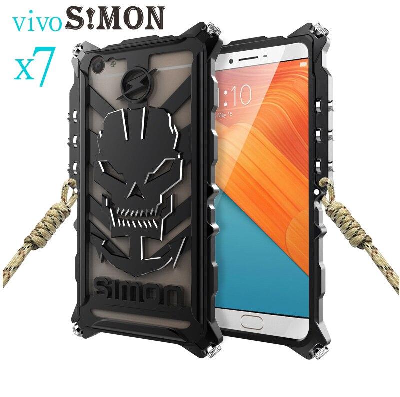 Zimon XIXO X7 X7 Plus CNC metal case ,Heavy Dust Aluminum IRONMAN protect Skeleton head phone shell case for VIVO X7 X7 Plus