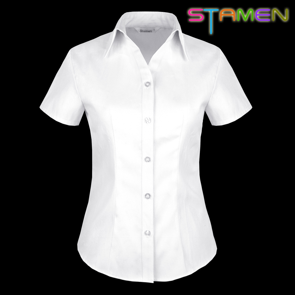 Womens White Collared Blouse