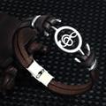 Musical Bracelet 2018 new fashion Design stainless steel Genuine Leather Bracelets For Women Men Charm Jewelry Bangle pulseira