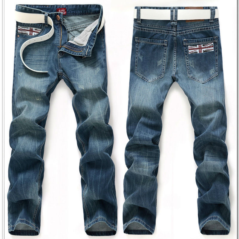 Jeans Men UK Flag Jean Famous Designer Hot Slim Denim Calca ...